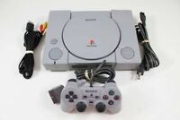 Original SONY Playstation 1 PS1 Console Fat DualShock CLEANED TESTED  Free Ship