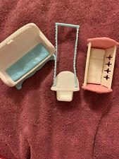 Vintage Fisher Price Loving Family Furniture Rocket Cradle Swing