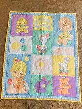 New listing Precious Moments Baby Blanket Little Buddy Cute Nursery Decor Tummy Time