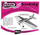 "Model Airplane Plans (UC): Veron STUNTER 30"" Stunt for 1-1.5cc (.06-.09ci)"