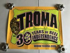 Troma Studios 30 Years Of Reel Independence Poster Listing #2 - Used - Toxie