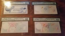 Burundi Progressive Proof Set of 8 Notes Beautiful Rare 1968 PMG 63-66EPQ