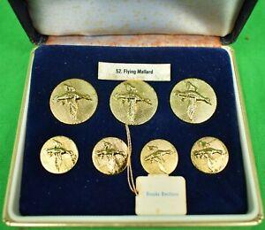 Brooks Brothers Box Set of London Badge 'Flying Mallard' Brass Blazer Buttons