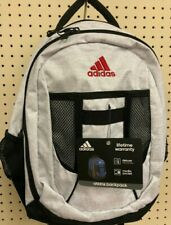 ADIDAS WHITE Black Atkins MEDIUM Backpack LARGE CAPACITY LAPTOP SCHOOL MEDIA BAG