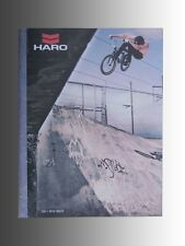 Collectable 2011 Haro Bmx bicycle, catalog features new product line