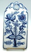 Vintage Meissen Blue & White Onion Pattern Porcelain Trivets Cutting Board