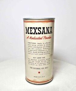 Vintage MEXSANA Heat POWDER TIN SHAKER Container Advertising Collectible