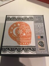 New - Yellow Owl Workshop Day Of The Dead Rubber 2 Stamp incl. 2 Inkpads - Rare