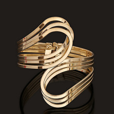 Creative Gold Curved Men Women Punk Cuff Bangle Unisex Bracelet Fashion Jewelry
