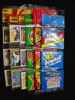 1980s-90s Topps Bowman Donruss Baseball Rack Pack Lot 12 Packs