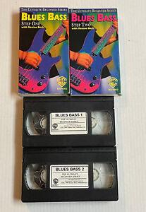 BLUES BASS BASICS STEP 1 and 2 VHS LOT ROSCOE BECK