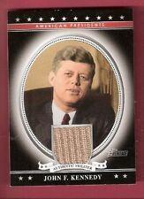 JOHN F KENNEDY JFK WORN SWEATER RELIC CARD 2009 Topps HERITAGE PRESIDENT USA