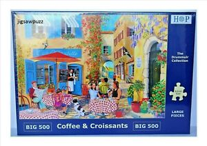 Coffee and Croissant New Release Big 500 Drummuir House of Puzzles Jigsaw Puzzle