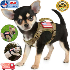Tactical Dog Vest Harness Outdoor Vest Adjustable Working with Rubber Handle