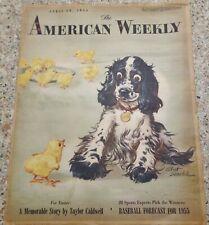 American Weekly Magazine Staehle Butch Dog Cocker Spaniel April 10, 1955