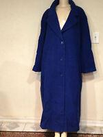 Women's Outerwear Winter Wool blend long coat jacket Chruch plus size2X 3X 4X 5X
