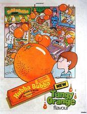 1985 'HUBBA BUBBA' Orange Flavour Bubble Gum Print Advert - Vintage Comic Ad