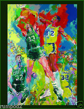 Basketball Pop Art  Poster/Print/Painting/Lakers and Celtics/17x22 inch/NBA