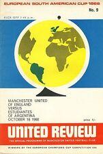 WORLD CLUB CUP FINAL 1968 Man Utd v Estudiantes