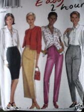6445 Vintage NEW LOOK SEWING Pattern Misses Skirt Pants 8 - 18 UNCUT FF SEW OOP