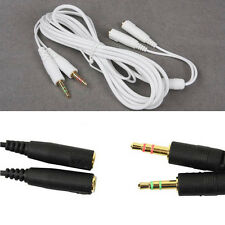 6ft/2m 3.5mm Black Siberia V2 / Neckband Headset Extension Cable JUST