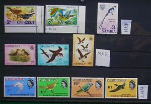 Birds, selection of MNH / MNG / MM.