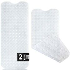 2-Pack Bath, Shower, Tub Mat Clear (39x16) Non Slip, Machine Washable, Xl Size