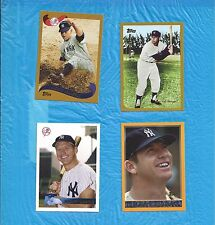 MICKEY MANTLE 1996 TOPPS MANTLE COLLECTION LOT 4 DIFFERENT NEW YORK YANKEES