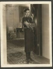 Real Photo Greta Garbo In The Movie Mata Hari Original Signed 1933