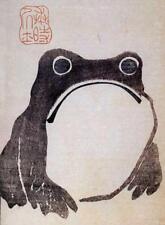 GRUMPY FROG, BY HOJI FROM JAPANESE PRINT, FRIDGE MAGNET