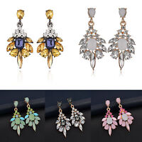 Hot Women Fashion Jewelry Resin Crystal Ear Stud Eardrop Dangle Earring Gift