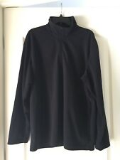 Preowned The North Face Long Sleeve Fleece Black Mens Size Xl Quarter Zip