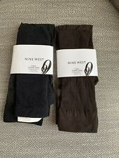 Nine West Womens Solid Opaque 3 Pair Pack Trouser Sock