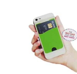 The Card Cling! Wallet Credit Card/ Money Stick On Holder Pouch For Cell Phone