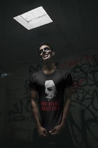 No Lives Matter Michael Myers T Shirt Funny Halloween Parody Black Horror Movies
