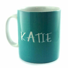 TEAL PERSONALISED WITH ANY NAME TEXT MESSAGE GIFT MUG CUP PRESENT LOVER TIFFANY