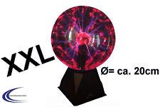 Große Plasma Lichtkugel 20cm 230V - Plasmakugel Lampe Party Deko Lichteffekt