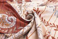 Vintage Beige 100% Pure Silk Saree Printed Indian Sari Craft Fabric 5 Yard