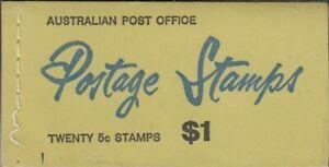 1967 Australia Last $1 Booklet 5c on 4c Queen Elizabeth Red Stamps - G67/3 issue