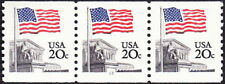 US - 1981 - 20 Cents US Flag Over Supreme Court Coil Issue #1895 PNC3 Plate #13