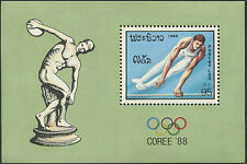 LAOS Bloc N°102** BF jeux olympiques COREE SEOUL 1988, olympic games Sc#889A MNH