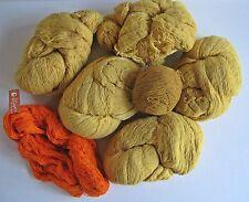 Vintage 100% Wool Rug Yarn Marks Farogarn Made in Sweden Orange Gold 2 lb 14 oz