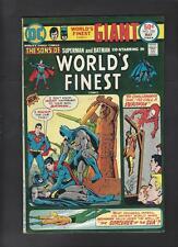 World's Finest 230 Vf- 7.5 Giant Superman Batman Hi-Res Scans