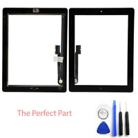 OEM SPEC Black Glass Touch Screen Digitizer Home Button Assembly For iPad 3 4