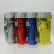 4x Pack Hand Crank All-Purpose LED Camping Flashlight W Squeeze Powered Recharge