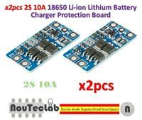 2pcs 2S 10A 8.4V 7.4V Li-ion Lithium 18650 BMS PCM Battery Protection Board
