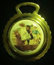 NEW CHILDREN PLAYING AT THE BEACH Ceramic Harness Horse Brass WOW YOUR WALLS!
