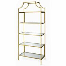 "NEW Better Homes & Gardens 71"" Nola 5-Tier Etagere Bookcase Gold Finish 5 Shelf"