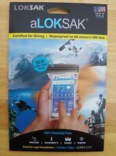 "LOKSAK aLOKSAK 2 Bags 3.75"" x 7"" Double Zipper Waterproof Dustproof Smartphone"