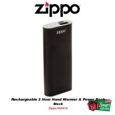 Zippo Rechargeable 2 Hour Hand Warmer & Power Bank, Black #40470
